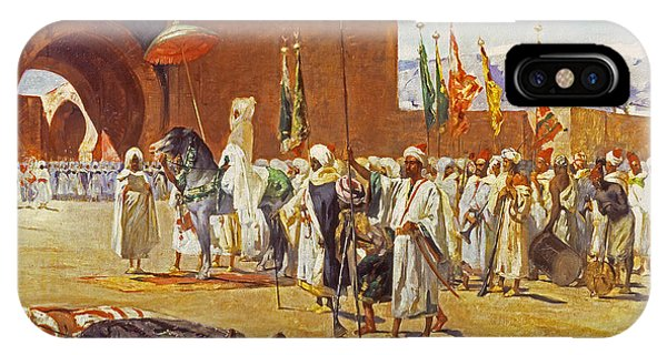 Gateway Arch iPhone Case - Moorish Procession by Jean Joseph Benjamin Constant