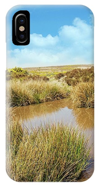 Moor iPhone Case - Moorland Pond by David Aubrey