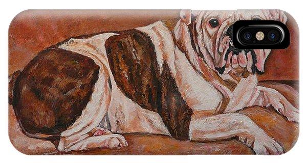 Moose-english Bull Dog Phone Case by Heather Kertzer
