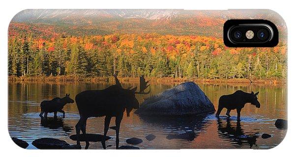 Moose Family Scenic IPhone Case