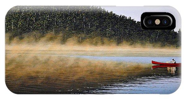 Moose Lake Paddle IPhone Case