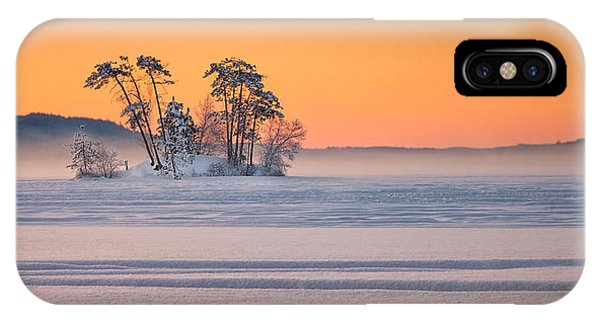 Moose Pond Winter Sunrise IPhone Case