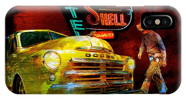 Mopar Cowboy Checks Out Of Motel Shell IPhone Case