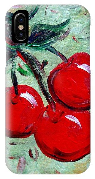More Cherries Phone Case by Cynthia Hudson