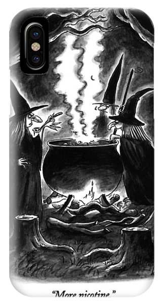 Cauldron iPhone Case - More Nicotine by Frank Cotham