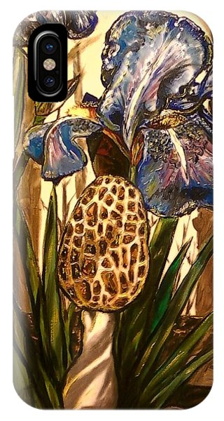 Morel In The Iris Bed IPhone Case