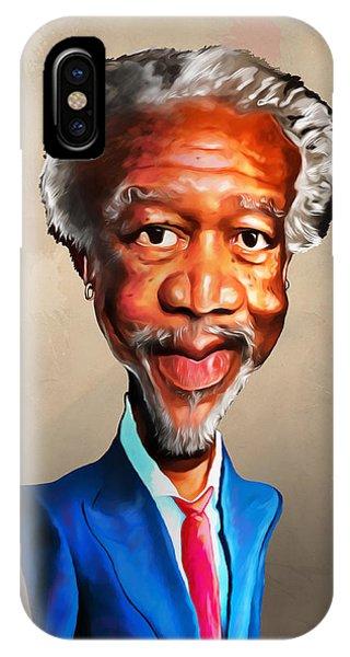 Voodoo iPhone Case - Morgan Freeman by Anthony Mwangi