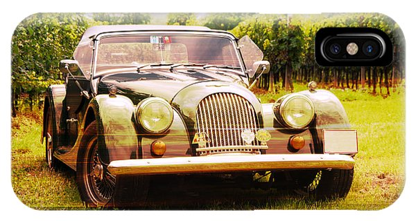 Morgan Plus 4 In Front Of Vineyard IPhone Case
