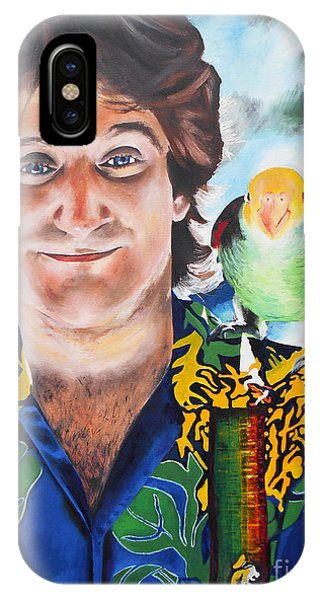 Robin Williams Comedian iPhone Case - Mork And Cora by Kevin J Cooper Artwork
