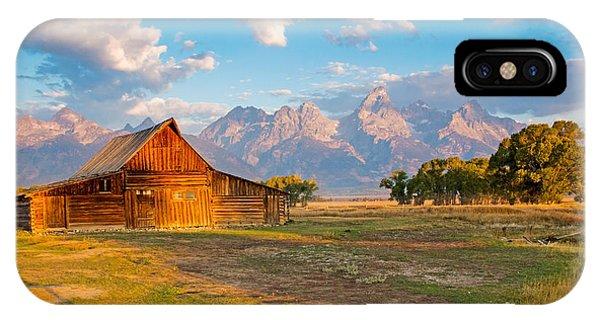 Mormon Row And The Grand Teton IPhone Case