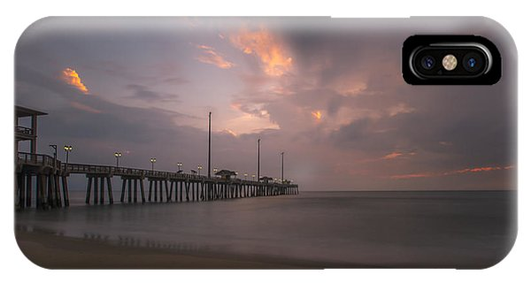 IPhone Case featuring the photograph Morning At Jennette Pier by Dan Friend