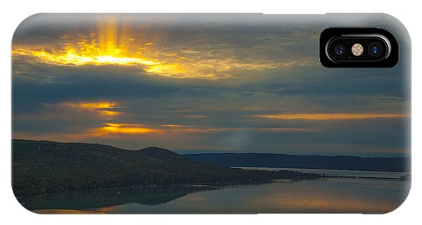 Morning Beams Over Glen Lake IPhone Case