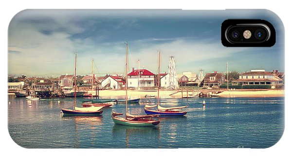 Morning Boats Nantucket IPhone Case