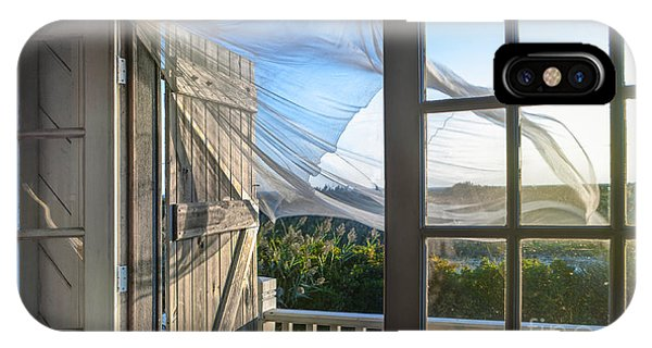 Window Pane iPhone Case - Morning Breeze At The Beach House by Diane Diederich