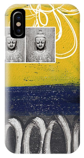 Abstract Landscape iPhone Case - Morning Buddha by Linda Woods