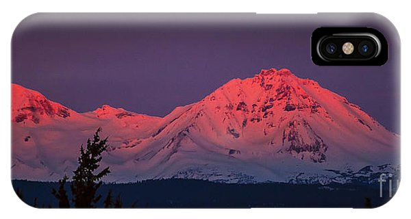 Morning Dawn On Two Of Three Sisters Mountain Tops In Oregon IPhone Case