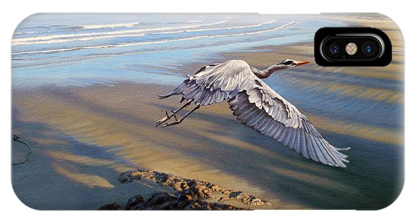 Heron iPhone Case - Morning Fight-blue Heron by Paul Krapf