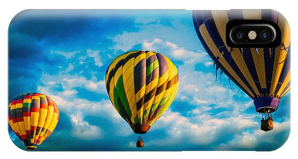 Morning Flight Hot Air Balloons IPhone Case
