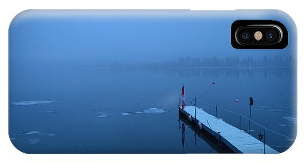 Morning Fog 002 - Skaha Lake 03-06-2014 IPhone Case