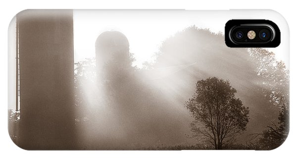 Morning Fog Burning Off The Farm IPhone Case