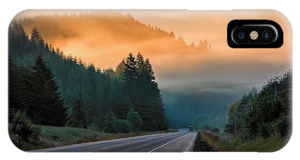 Morning Fog In Oregon IPhone Case