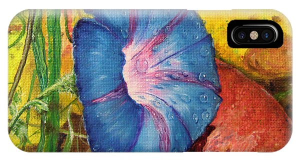 Morning Glory Bloom In Apples IPhone Case
