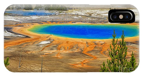 Magazine Cover iPhone Case - Grand Prismatic Geyser Yellowstone National Park by Edward Fielding