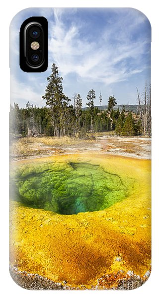 Morning Glory Pool In Yellowstone National Park IPhone Case