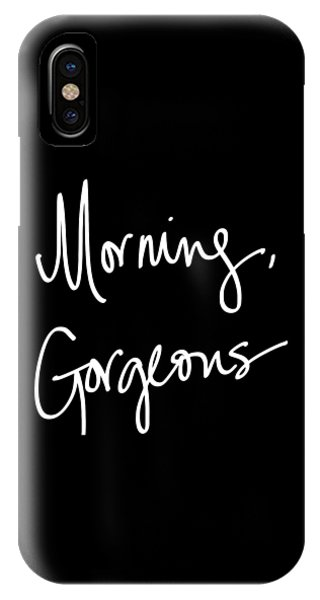 Black And White Art iPhone Case - Morning Gorgeous by South Social Studio