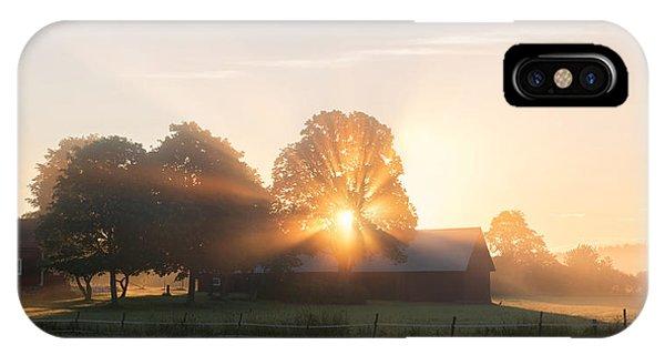 Farm Landscape iPhone Case - Morning Has Broken by Christian Lindsten