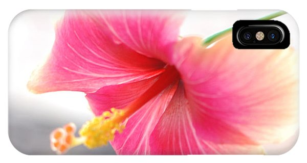 Morning Hibiscus In Gentle Light - Square Macro IPhone Case