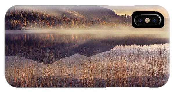 Fog Mist iPhone Case - Morning In Adirondacks by Magda  Bognar