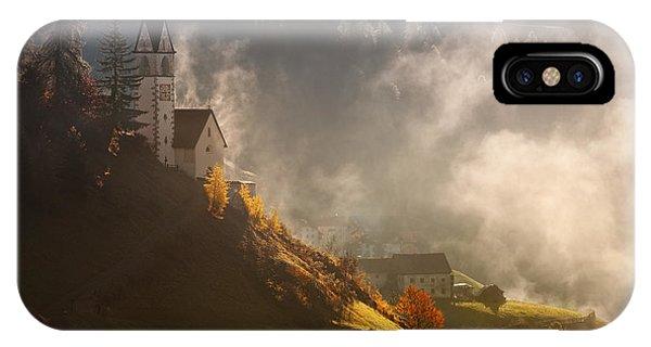 Chapel iPhone Case - Morning In Alpine Valley by Daniel ?e?icha