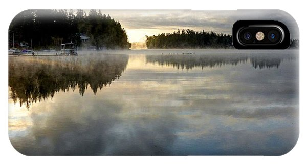 Morning Lake Reflection IPhone Case