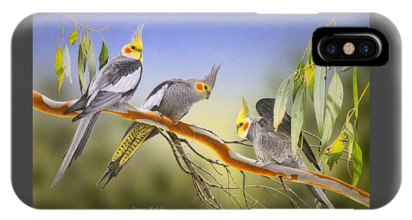 Morning Light - Cockatiels IPhone Case