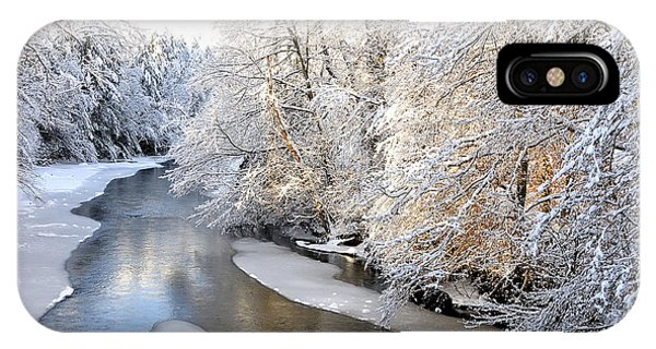 Morning Light Fresh Snowfall Gauley River IPhone Case