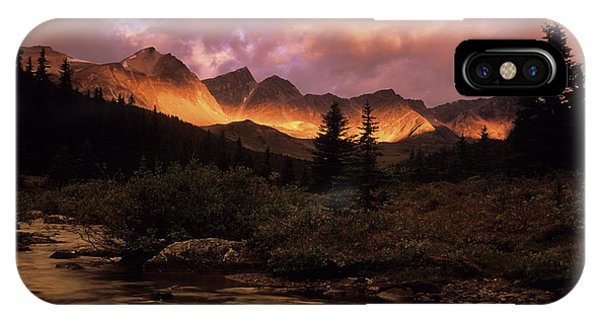 Rocky Mountain iPhone Case - Morning Light Maligne Pass by Bob Christopher