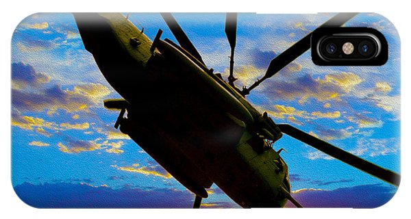 Helicopter iPhone Case - Morning Maneuvers  by Jon Neidert