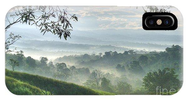 Farm Landscape iPhone Case - Morning Mist by Heiko Koehrer-Wagner