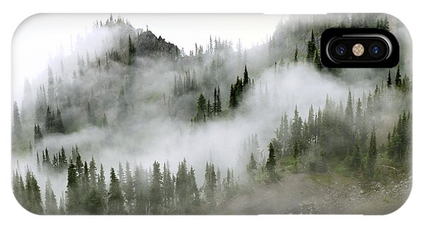 Fog iPhone Case - Morning Mist In Olympic National Park by King Wu