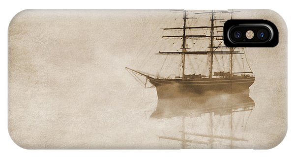 Regatta iPhone Case - Morning Mist In Sepia by John Edwards