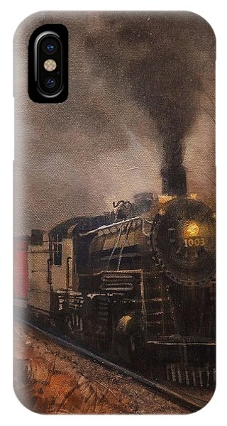 Trains iPhone Case - Morning Mist Soo Line 1003 by Tom Shropshire