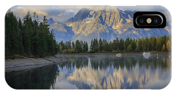 Morning On Colter Bay Phone Case by Michael Schwartz