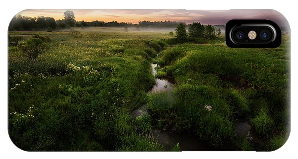 Morning iPhone Case - Morning On Kes'ma River by Kirill Volkov