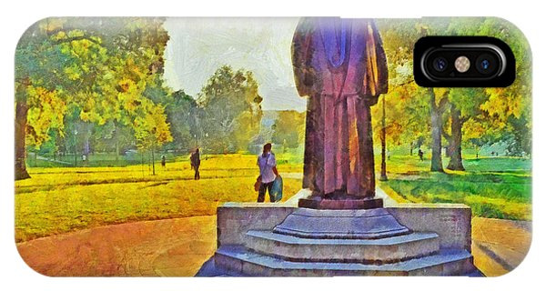 The William Oxley Thompson Statue. The Ohio State University IPhone Case