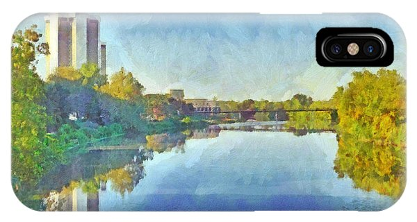 Towers On The Olentangy. The Ohio State University IPhone Case