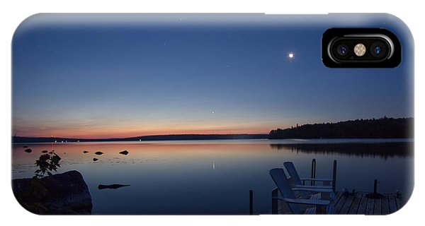 Morning Reflection On Branch Lake In Maine IPhone Case