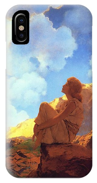 IPhone Case featuring the painting Morning Spring by Maxfield Parrish