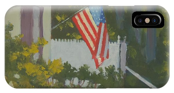 Morning Sun On Old Glory - Art By Bill Tomsa IPhone Case