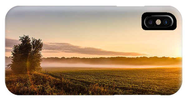 Morning Sun Over Farmland IPhone Case
